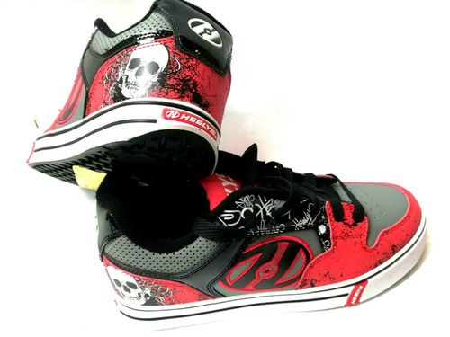 Heelys Motion Plus Red/Black/Grey/Skulls